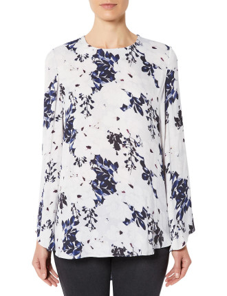 Printed High Low Blouse