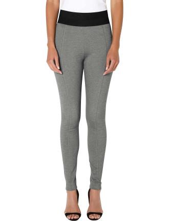 Silver Grey Ankle Zip Ponte
