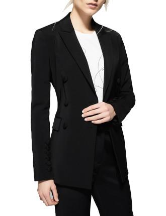 Button Sleeve Blazer