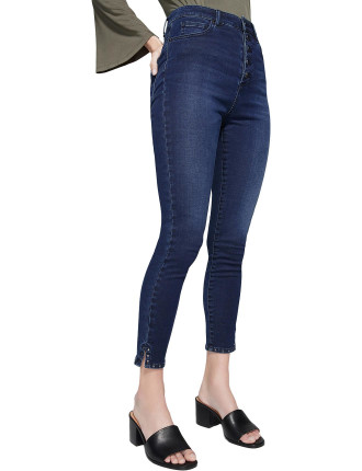 Hi Rise Button Jean