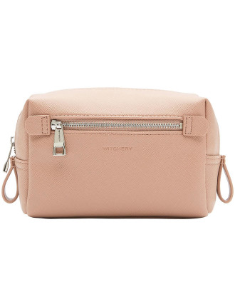 Mini Liana Saffiano Cosmetic Bag