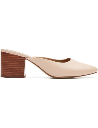 Mona Leather Block Heel