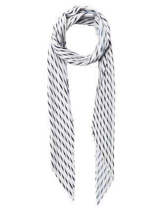 Stripe Plisse Necktie