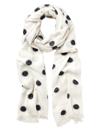 Clipped Spot Scarf