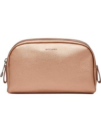 Lia Textured Cosmetic bag
