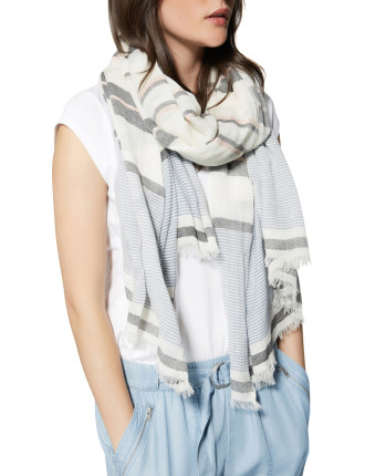 Yarn Dyed Stripe Scarf