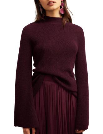 Mohair Bell Sleeve Knit
