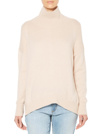 Roll Neck High Low Knit