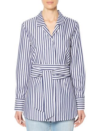 Wrap Stripe Shirt
