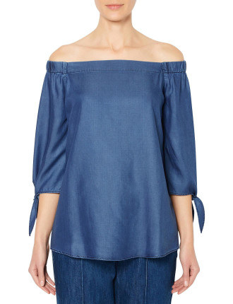 Chambray Shoulder Blouse