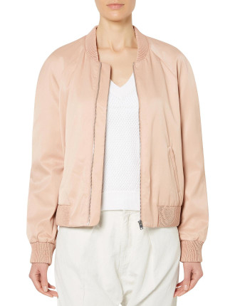 Crop Raglan Bomber Jacket