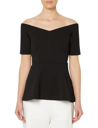Off Shoulder Peplum