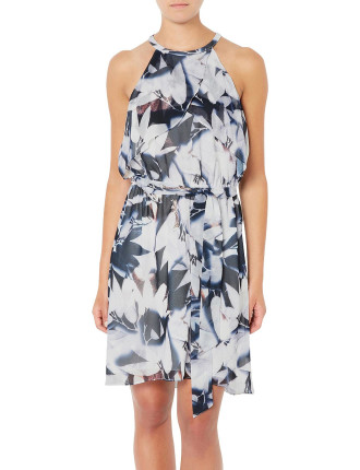 Ruffle Print Dress