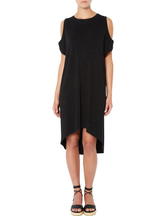 Split Detail Jersey Dress