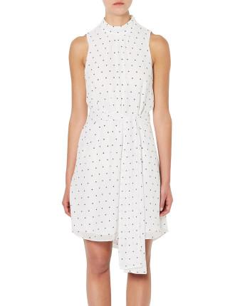 High Neck Spot Dress