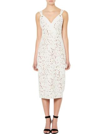 Eyelet Print Dress