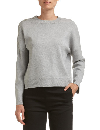 Raine Boxy Crop Knit