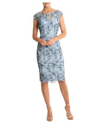 Duck Egg Lace Dress