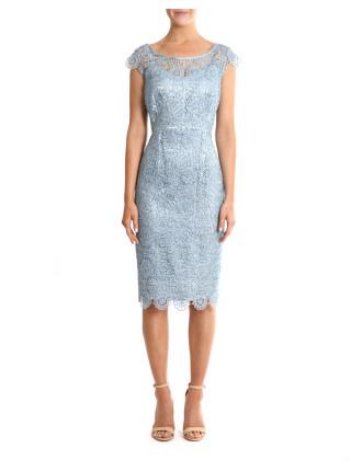 Arctic Sequin Lace Dress