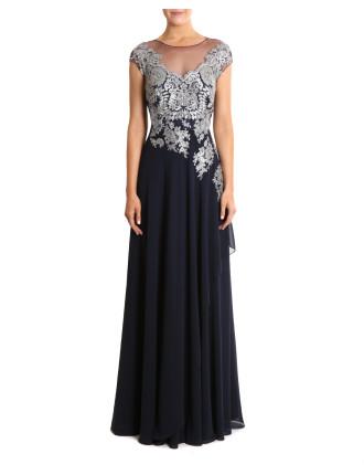 Sapphire Chiffon Gown