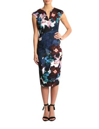 Scuba Print Dress Sh05457