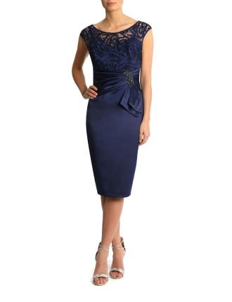 Sequin Bodice W/ Satin Skirt Ha05530