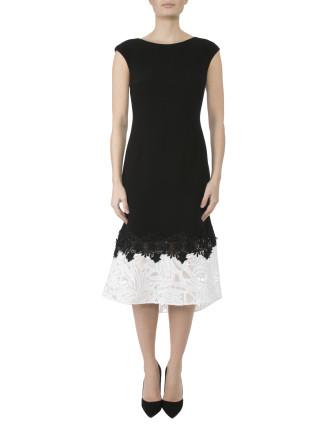 Long Crepe Dress Df06539