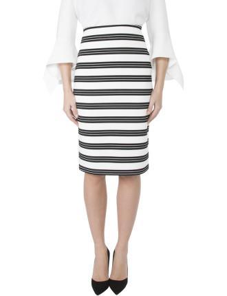 Stripe Knit Skirt Mc06104