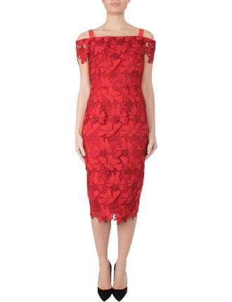 Guipure Lace Dress Hl06528