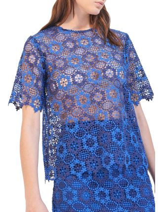 Dolce Embroidered Sheer Top