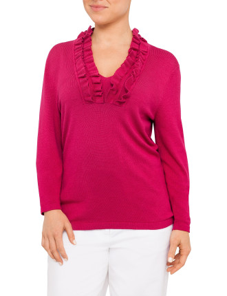 Frill Neck Sweater