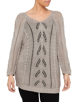 Cable Sweater - Petite Size