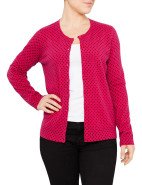 LONG SLEEVE SPOT CARDIGAN $129.00