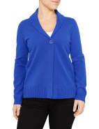 LONG SLEEVE ONE BUTTON SHAWL COLLAR CARDI $119.00