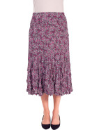 CRUSHED PRINT GODET SKIRT $79.95