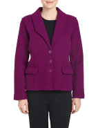 FITTED BOILED WOOL JACKET $104.30