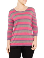 Portabello Multi Stripe 3/4 Sleeve Jumper $82.95