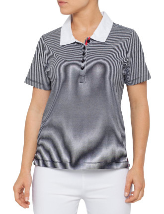S/S MICRO STRIPE POLO
