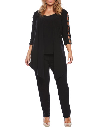 THREE PIECE JERSEY  PANT SUIT
