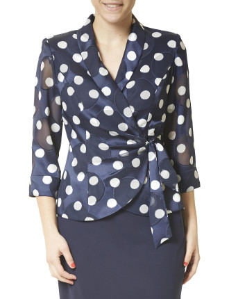 SPOT JACKET SKIRT SUIT