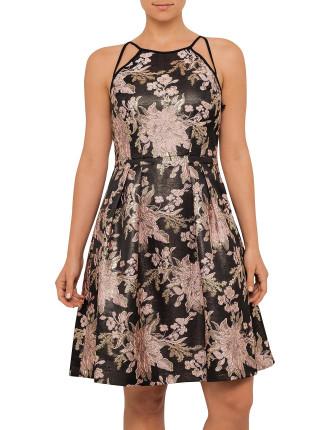 Multi Coloured Brocade Dress