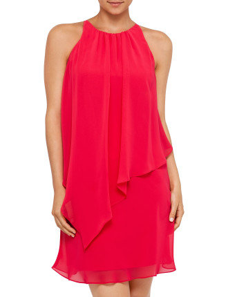 Chiffon Sleeveless Layered Dress