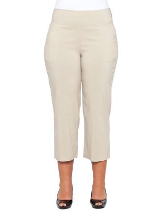 Bengaline Three-Quarter Length Pull On Pant