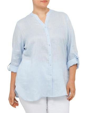 Shirt Tab Sleeve Button Through
