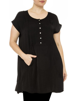 Luxe Pocket Detail Tunic Top