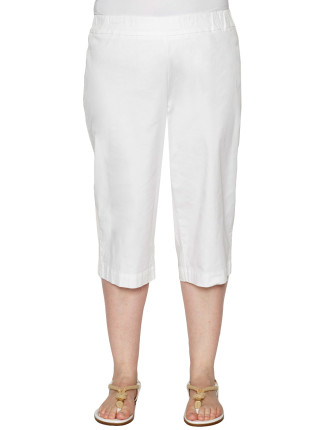 Button Detail Crop Pant