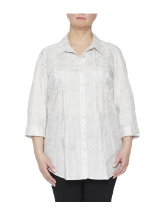 Foil Paisley Print Shirt
