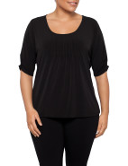 Pleat Front Top three quarter sleeve $49.95