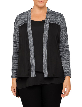 Luxe And Jersey Twofer Top