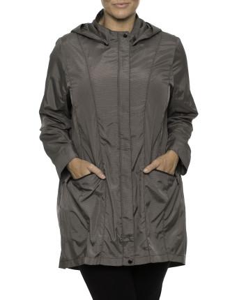 Panel Detail Hooded Jacket